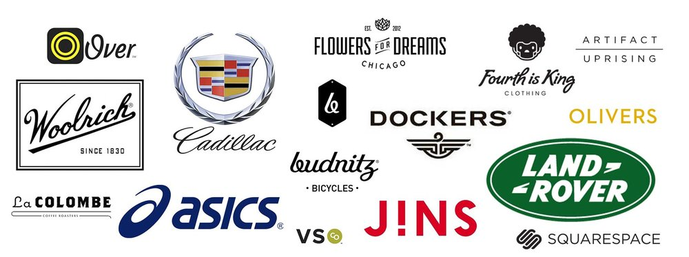 Some of our favorite brands we've worked with so far