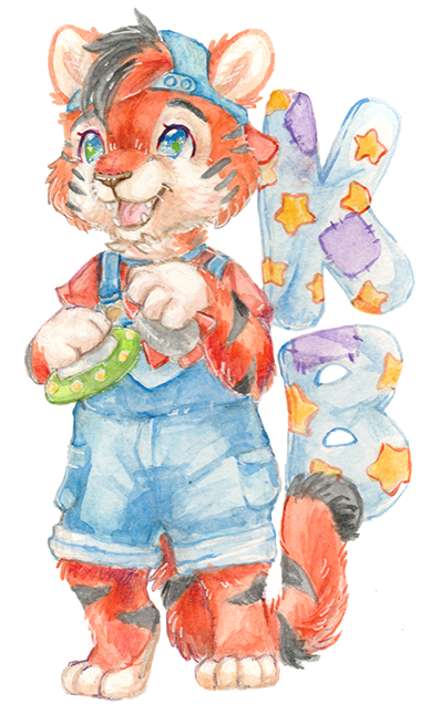 Watercolor Badge $50 - These softly colored badges are done in watercolor with details in colored pencils. They typically  measure 7 to 9 inches tall.