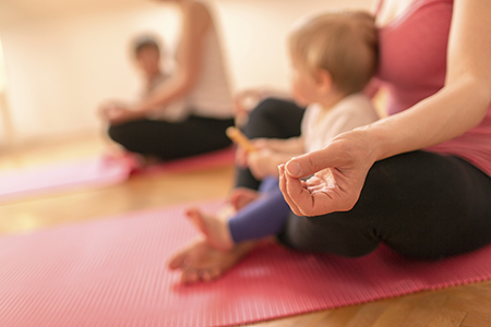 Postnatal & Baby Yoga - Looking for a fun and healthy bonding experience as a new mom? Bring your baby to Postnatal Yoga classes, designed to support the mother's post pregnancy body 6-weeks or more after birth. Yoga asanas (postures) as selected to focus on areas like the abdominal & pelvic floor and the neck & shoulders. Some postures will involve your child while others are specifically targeted at helping mothers recharge & rejuvenate during this special time.Book your class here.