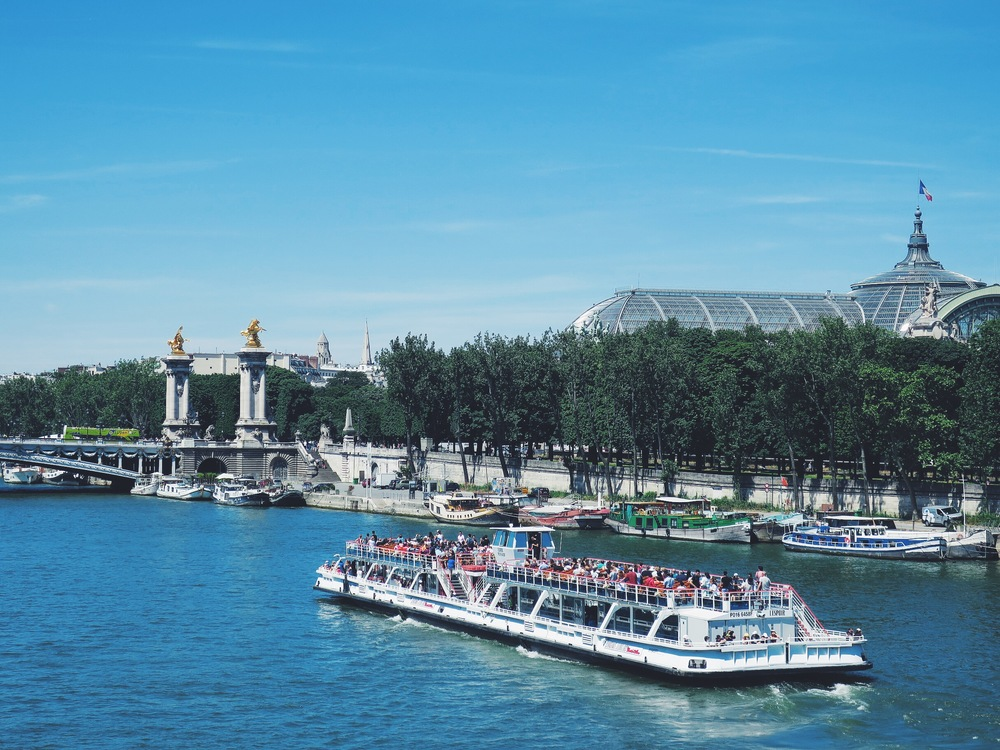 View on the Pont Alexandre III and the Grand Palais