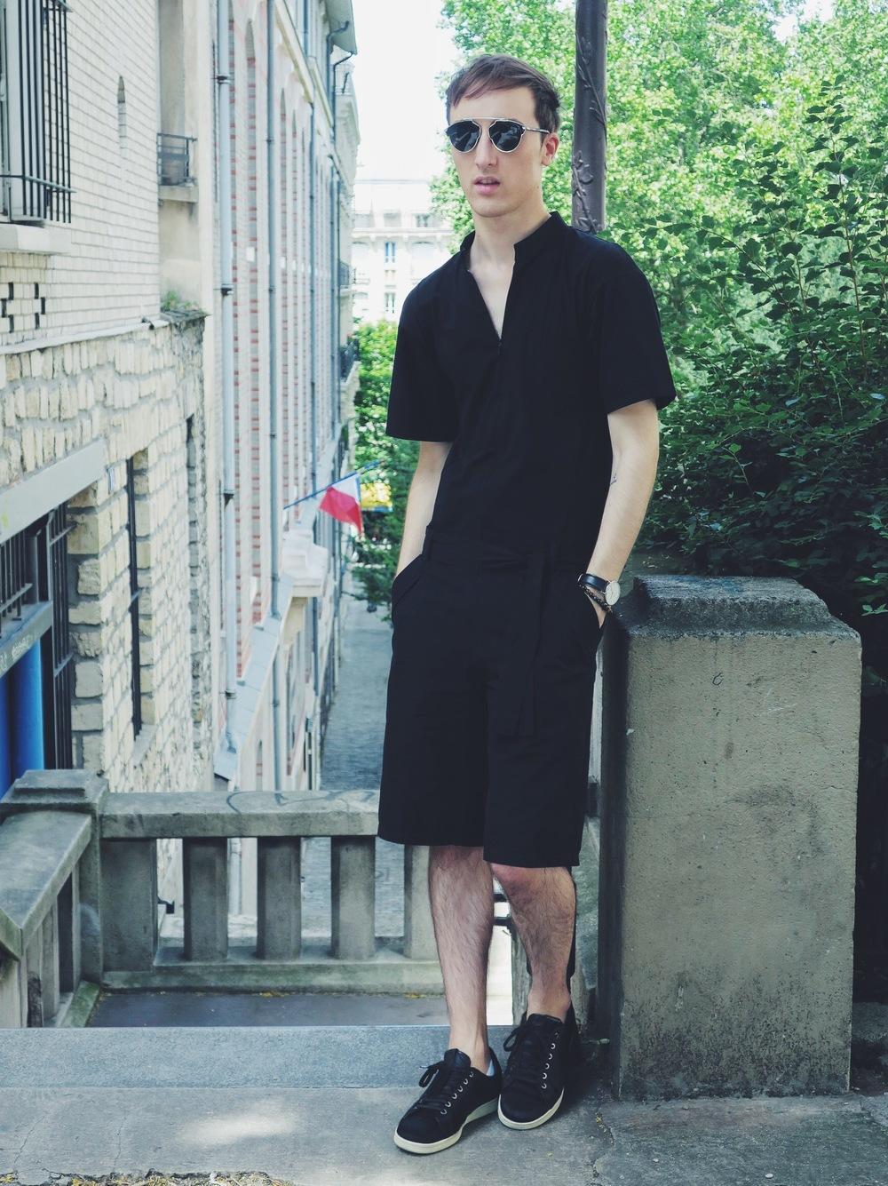 Zara jumpsuit - Maruti sneakers - Wavvse sunglasses