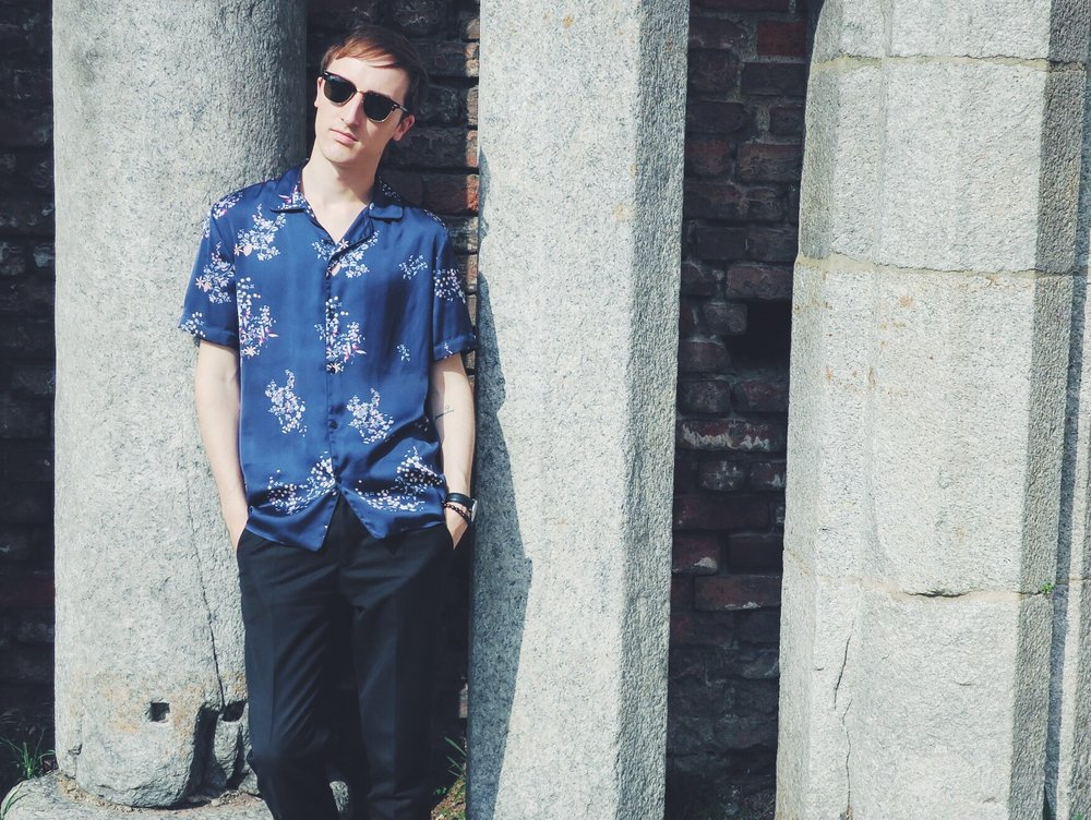 Zara shirt - Zara trousers - Ray-Ban Clubmaster sunglasses