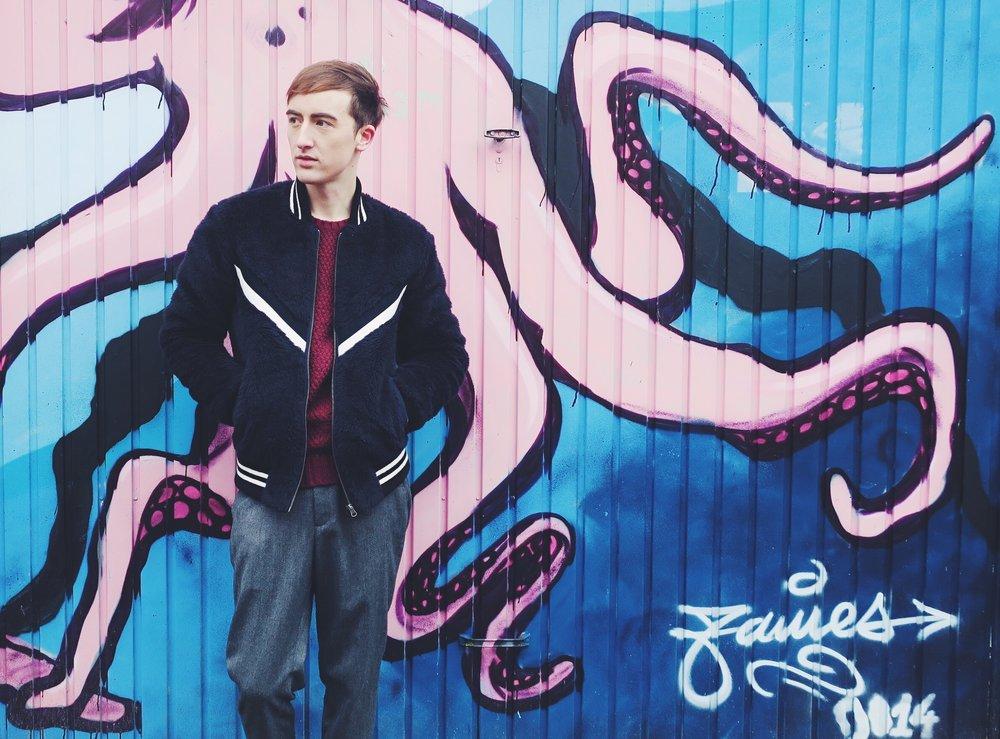 Essentiel bomber jacket - Zara knitwear - Essentiel trousers