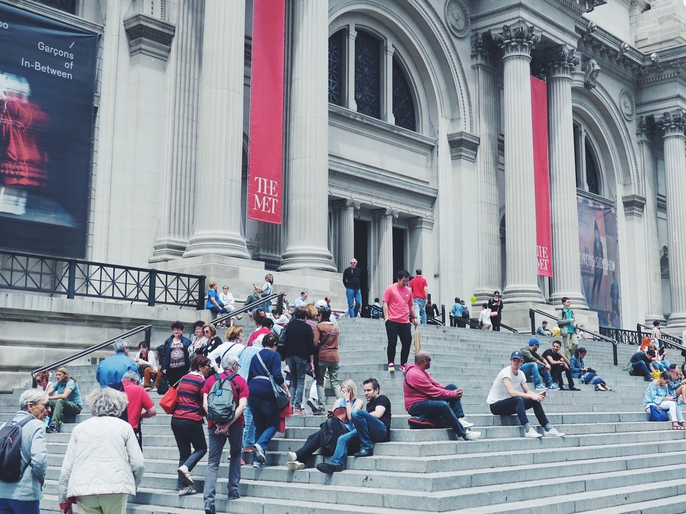 The Met's famous stairs