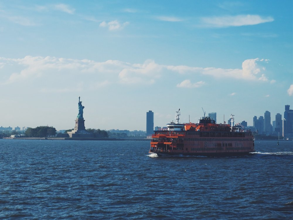 The Statue of Liberty and the Staten Island Ferry