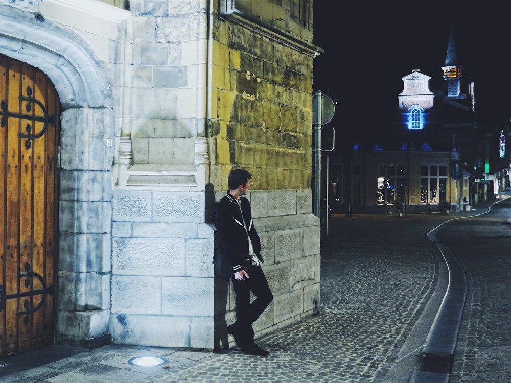 Essentiel bomber jacket - Zara trousers - Topman boots - Zara clutch