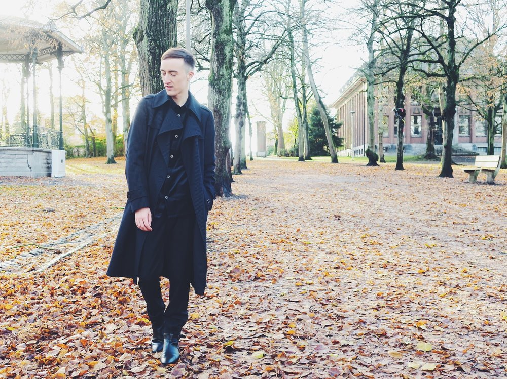 Dries Van Noten coat - Weekday shirt - Raf Simons trousers - Topman boots