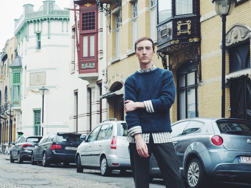Knitwear by my mom - Zara shirt - Stephan Schneider trousers