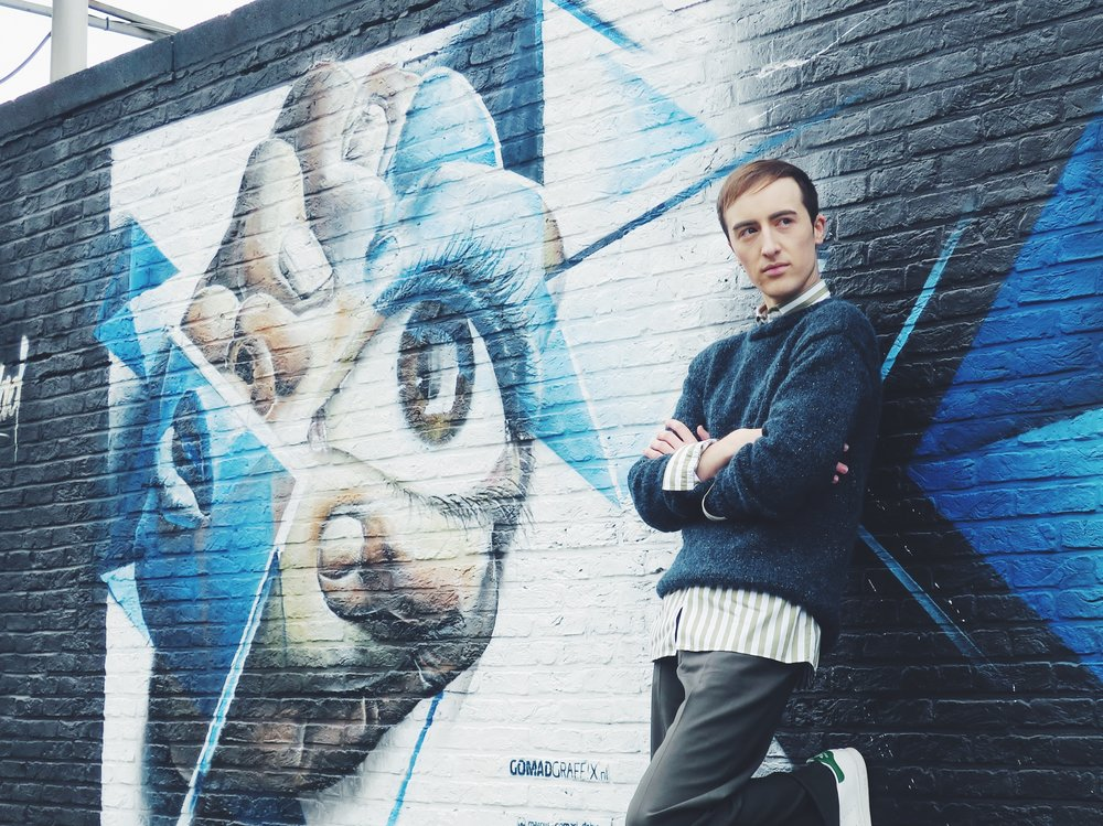 Knitwear by my mom - Zara shirt - Stephan Schneider trousers - Adidas Stan Smith sneakers
