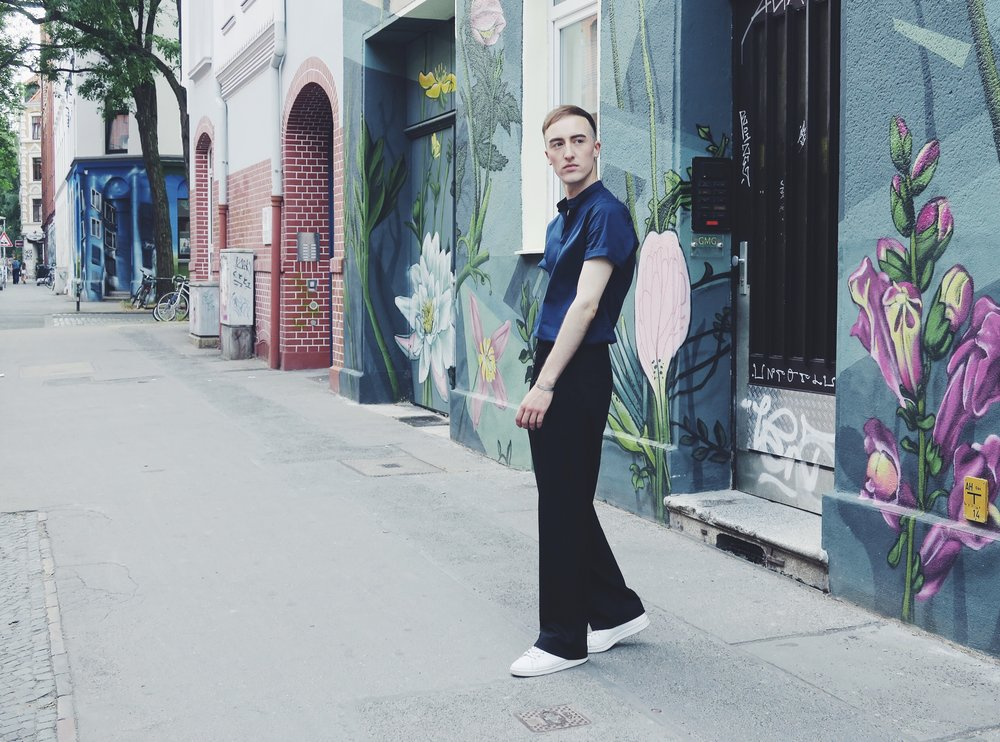 Zara shirt - Zara trousers - Adidas Stan Smith sneakers