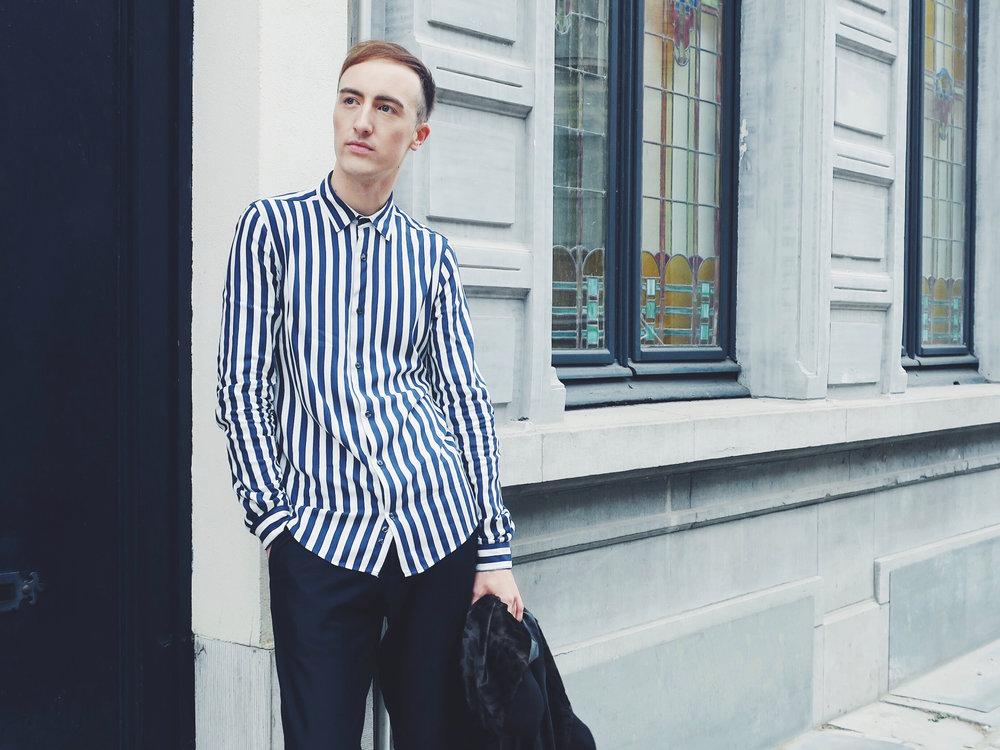 Zara shirt - Cos trousers - The Kooples jacket