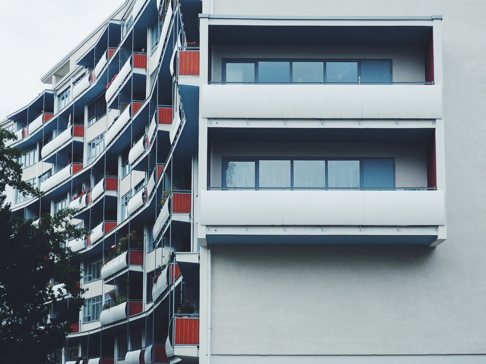 Walter Gropius building in Hansaviertel, Berlin
