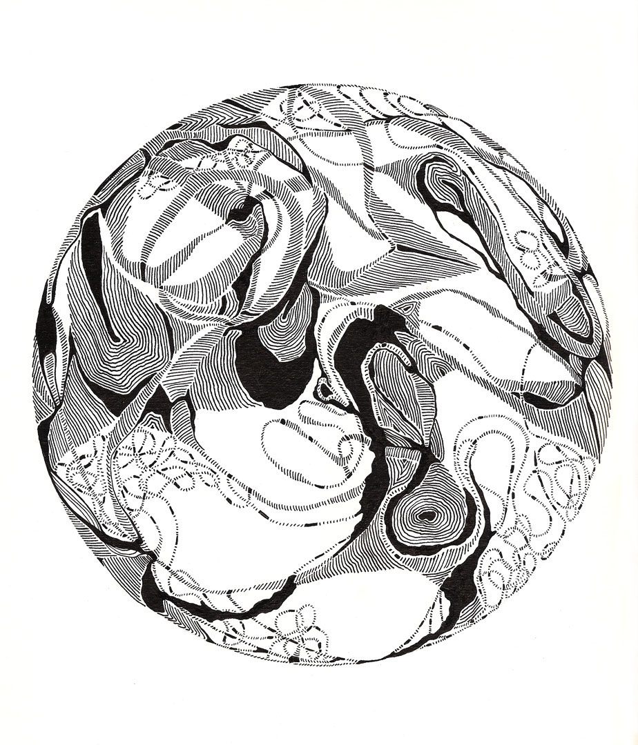 Circulation, ink on paper, 9x15 in., 2009