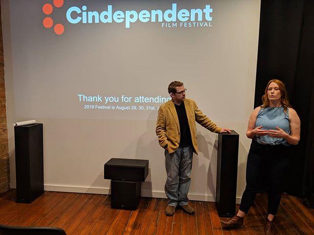 Feels good to kick off the #CindependentFilmFestival for 2019! • • • • •  #filmfestival #cincinnati #thisisotr #cincinnatievents