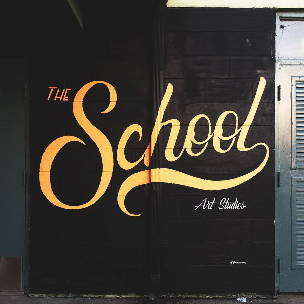 Mural at The School art studios.