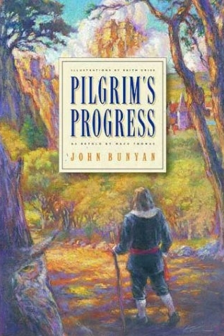 The Pilgrim's Progress by John Bunyan   This 17th Century fiction is a famous allegory of a Christian's spiritual journey. The main character progresses  through life, carrying a burden upon his shoulders, searching for salvation. Along the way he meets others, such as Worldly Wiseman, Giant Despair, Faithful, Talkative and Ignorant. I adored this short story and found the explanations of grace particularly helpful. I'll read it again some day.  Recommend?  Yes