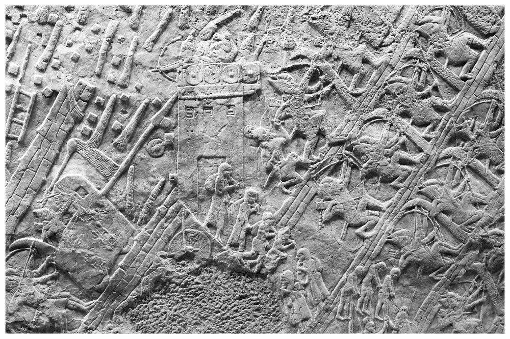 Assyrian wall carving of Lachish defeat (Micah 1:13a)