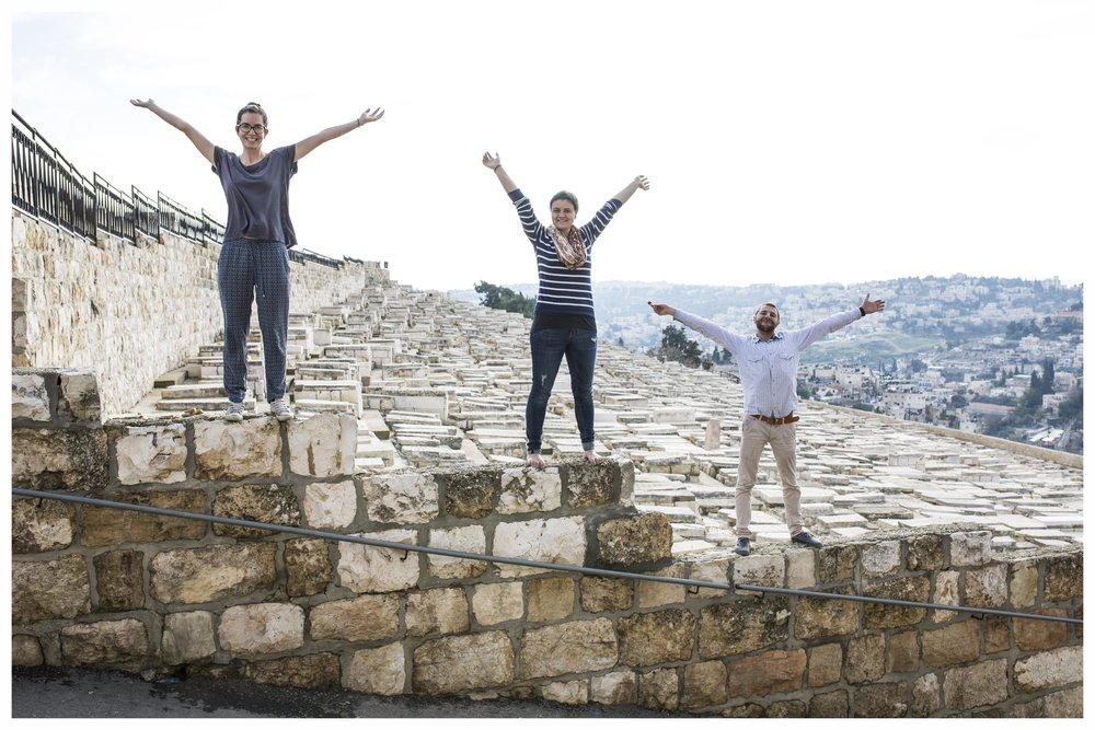 Me and friends at the Mount of Olives in Jerusalem