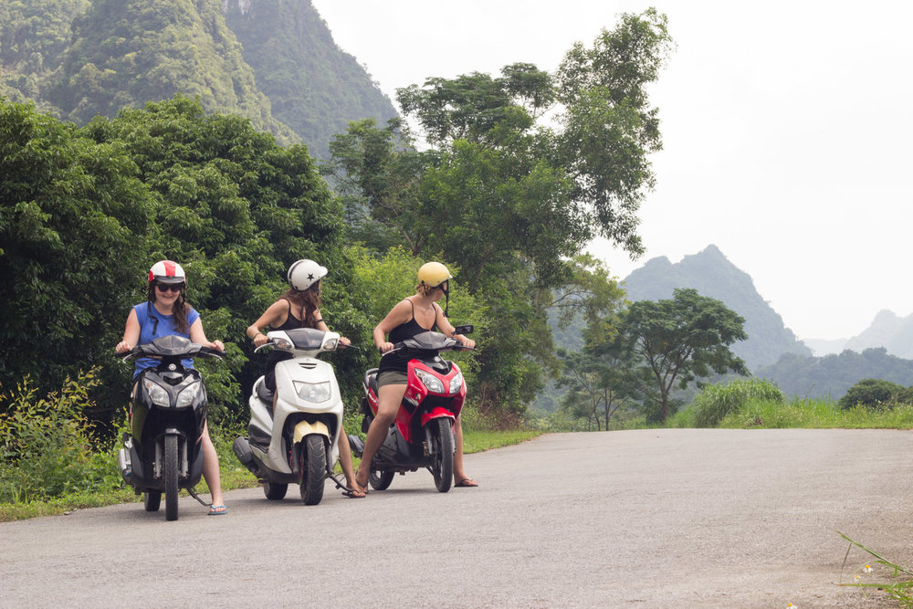 Ride a moped • Cat Ba Island, Vietnam •