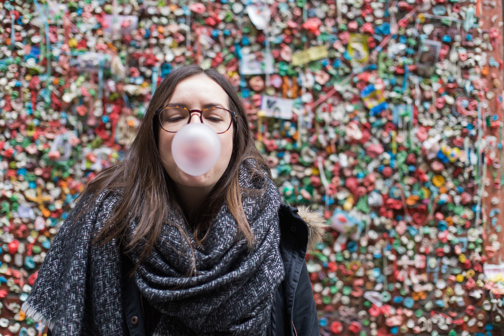 Add to the gum wall • Seattle, USA •