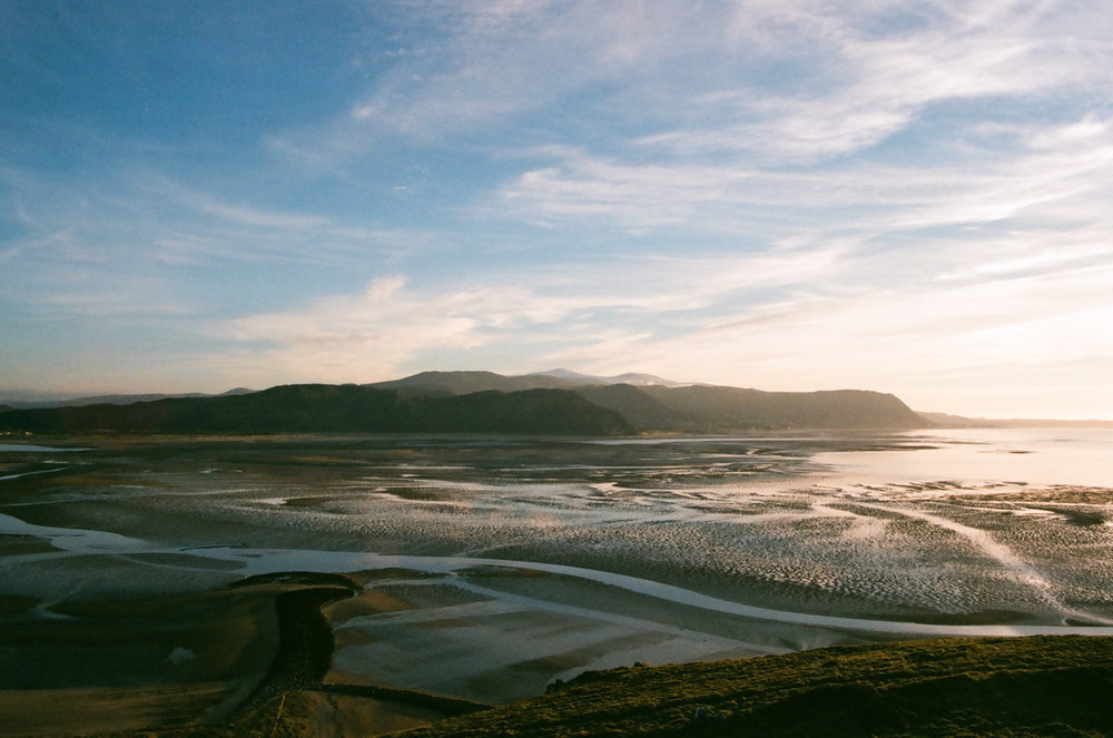 I love being alone in nature and I climbed up this hill, the Great Orme, to watch the sun set, armed with my film camera • Llandudno, Wales •