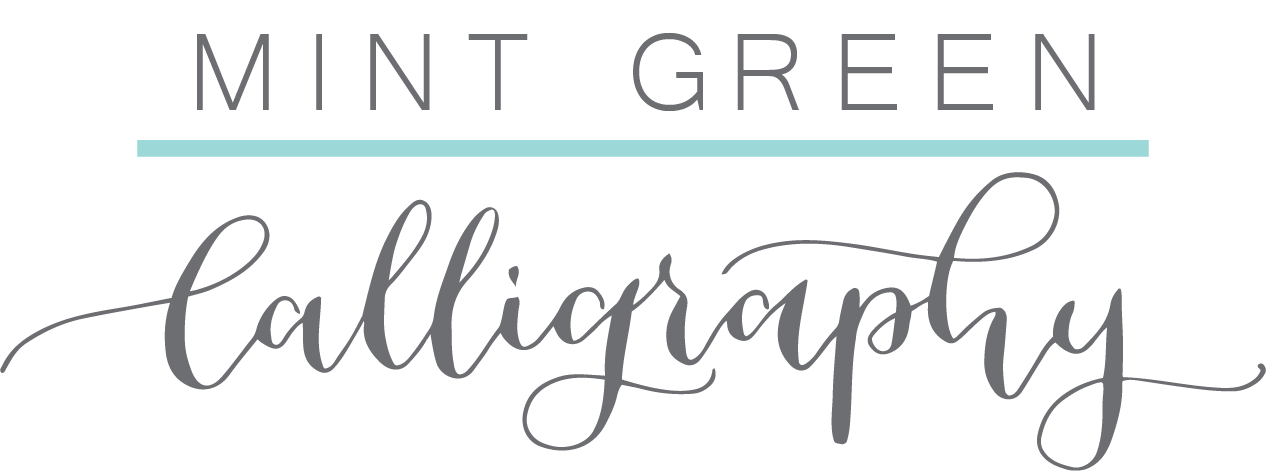 Mint Green Calligraphy & Design
