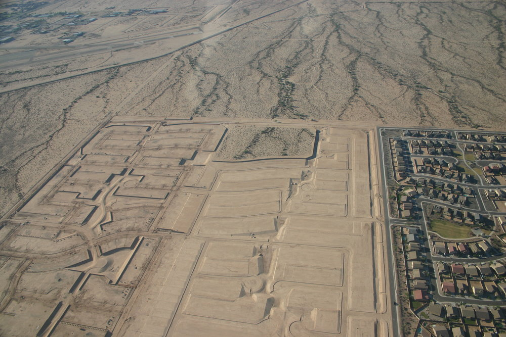 Uncompleted zombie subdivision in Arizona. Photo courtesy of Anne Ellis.