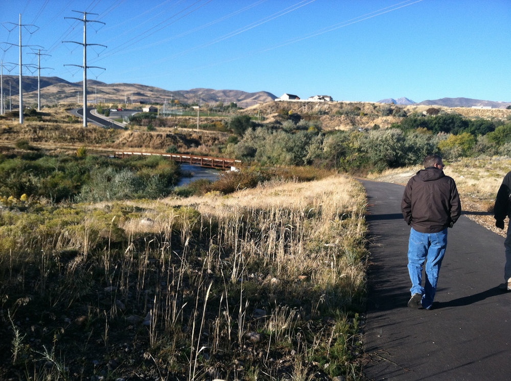 The Jordan River Parkway Trail is a meandering multi-use path located one mile to the west of the Central Business District. Source: Salt Lake City Corporation.
