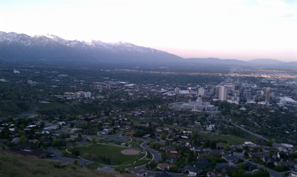 Valley View: The Salt Lake Valley's Wasatch Mountain Backdrop. Photo by Todd A. Draper.