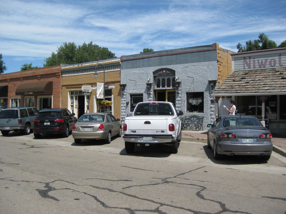 "Flexibility: A new ""triggers-based"" parking policy provides flexibility to accommodate new businesses and future demands in Old Town Niwot. Photo provided by Victoria McKennan."