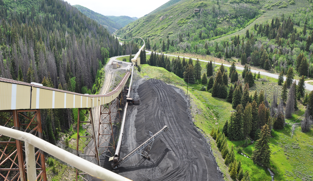 coal water-slide. A view from Skyline Mine located in Carbon County, Utah. Photo by Shad West.