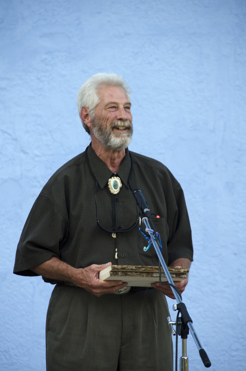 CITIZEN PLANNER AWARD. Ron Gardiner of Questa, New Mexico.  Photo by Rachel Girt.