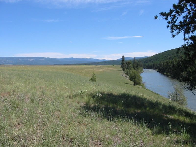 A ranch easement on Blackfoot River corridor. Photo provided by John B. Wright.