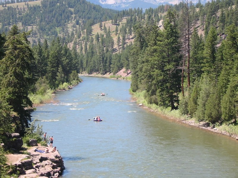 Recreation access on easement land on the Blackfoot River corridor in  Montana. Photo provided by John B. Wright.
