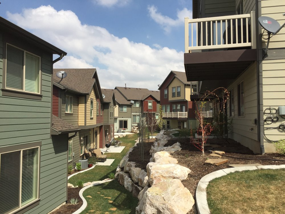 Orchard Pines. A hybrid mixed-use development. Photo by Aric Jensen.