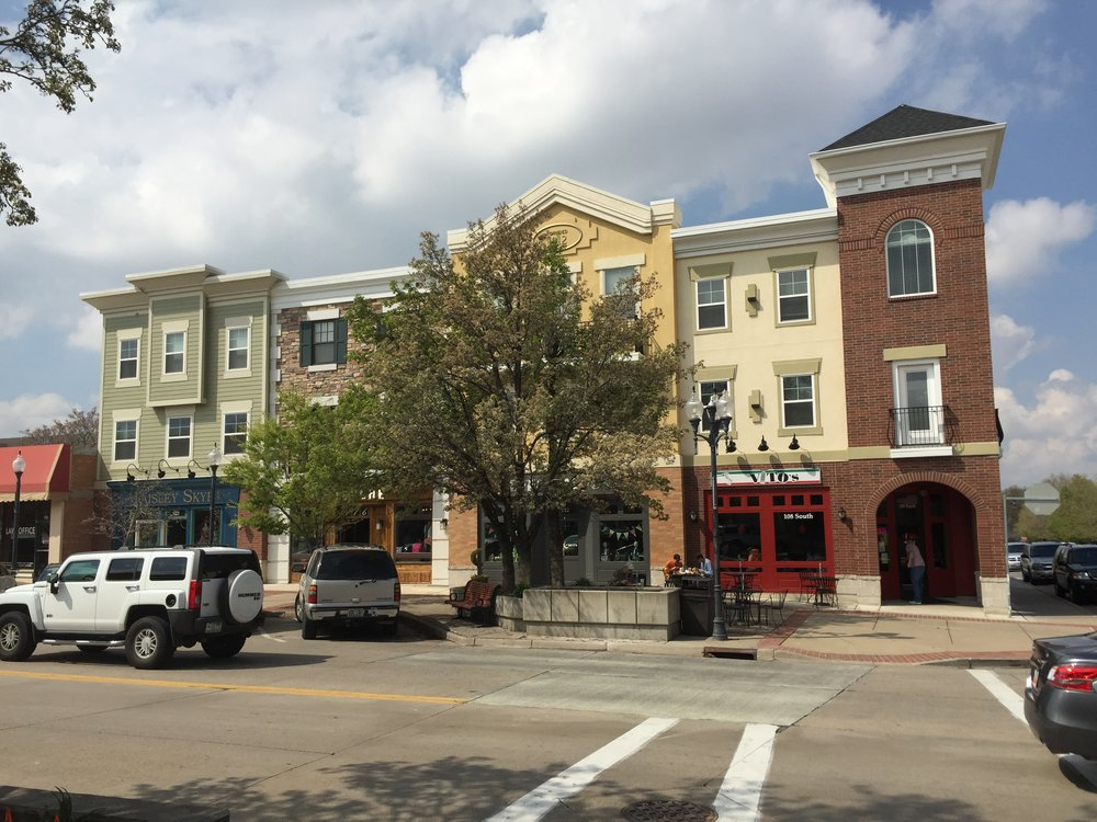 100 South Main Street. A traditional, main street oriented, mixed-use development. Photo by Aric Jensen.