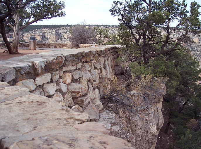 Between 1933 and 1942, CCC enrollees labored on infrastructure and aesthetic improvements that continue to provide benefit some 80 years later. In the West some of the work of the CCC is obvious, such as the rock wall along the south rim of Grand Canyon. Photo by Michael I. Smith.