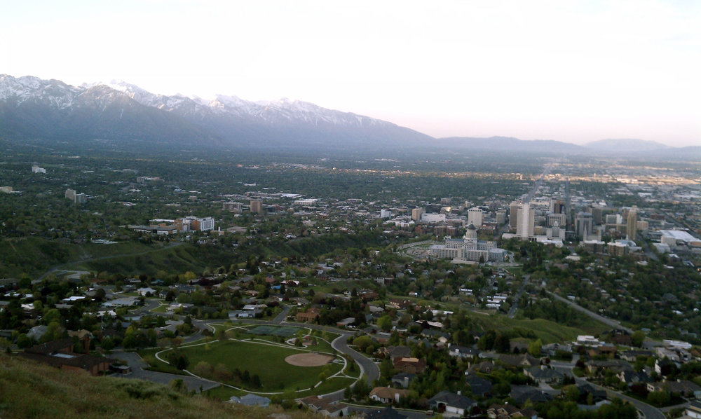 The Salt Lake Valley's Wasatch Mountain backdrop. Photo by Todd A. Draper.