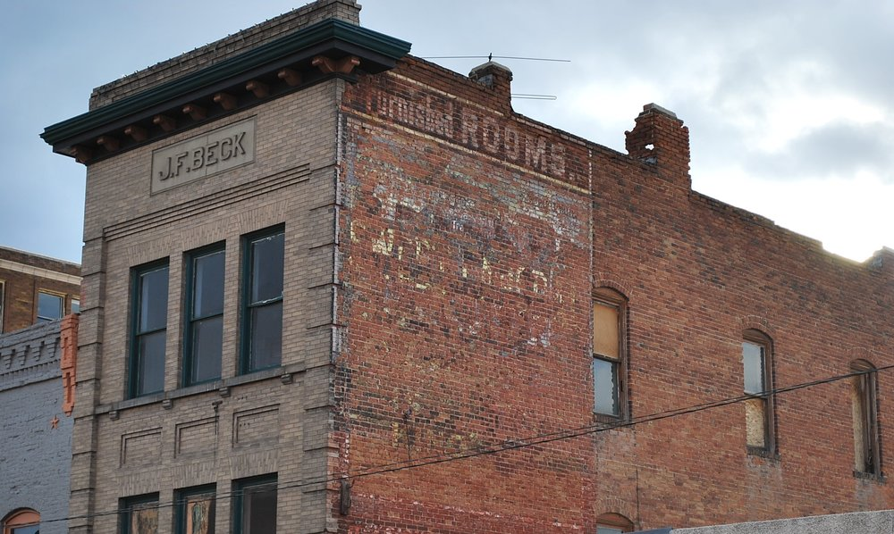 Signs of the past: Lost ghost sign, Rex Flour, has been proposed for restoration. Photo by Jim Jarvis.