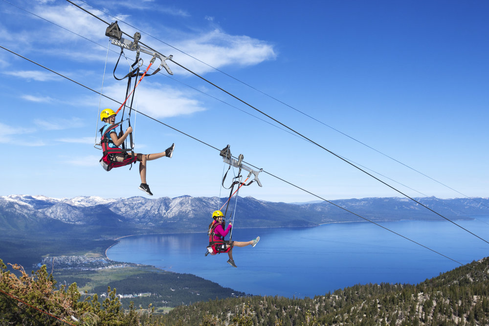 Zip line canopy tour. Photo courtesy of Heavenly Mountain Resort.