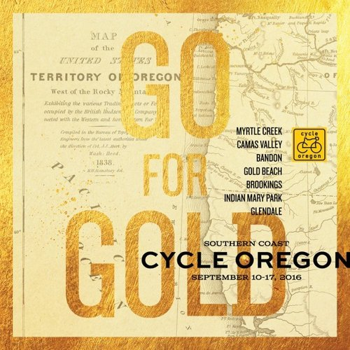 GO FOR GOLD. IMAGE COURTESY OF CYCLE OREGON.