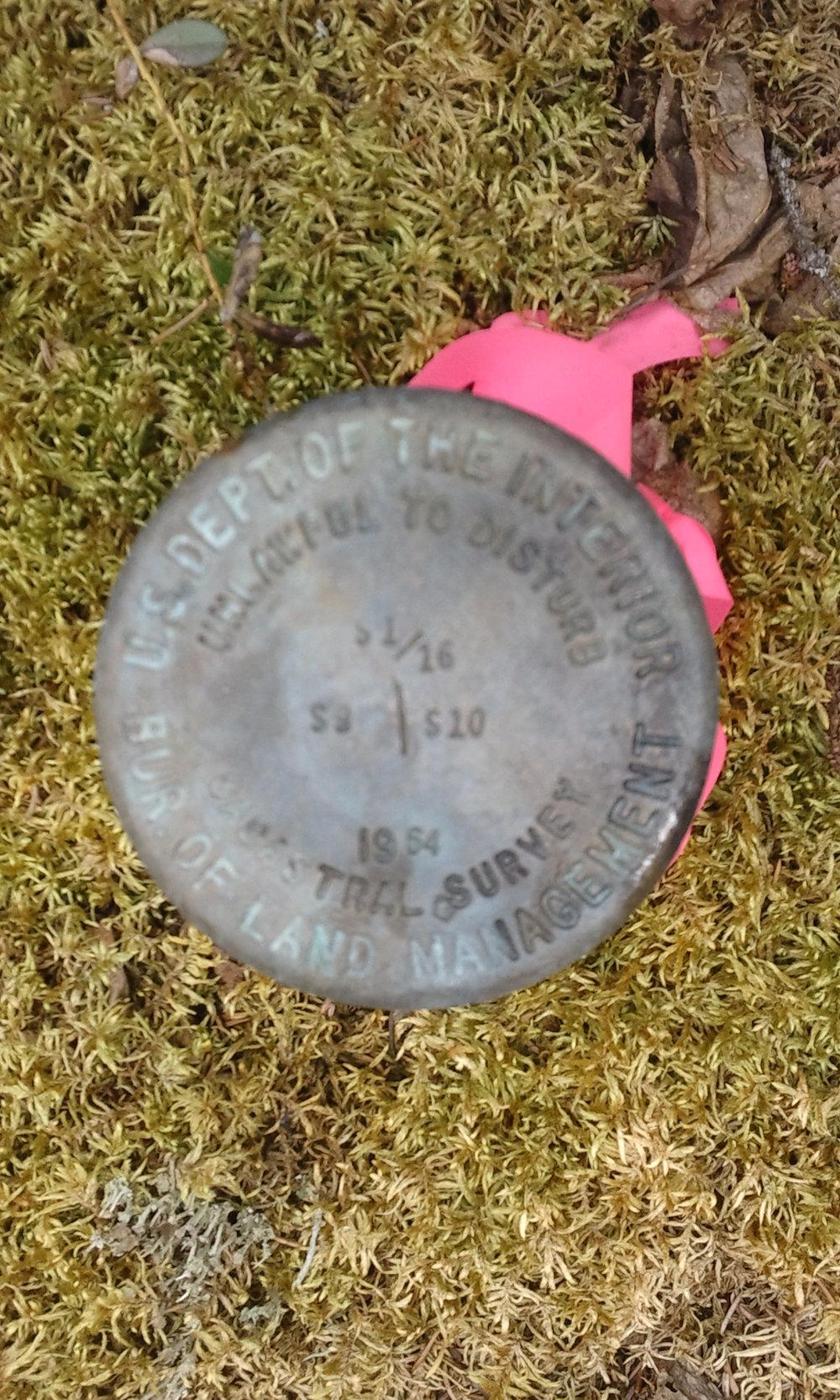 1952 BLM Sixteenth Corner Monument.