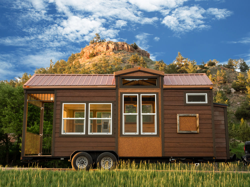 """Bunkaboose"" wheeled tiny home model by Ecocabins.  Photo Credit: Ecocabins.com"