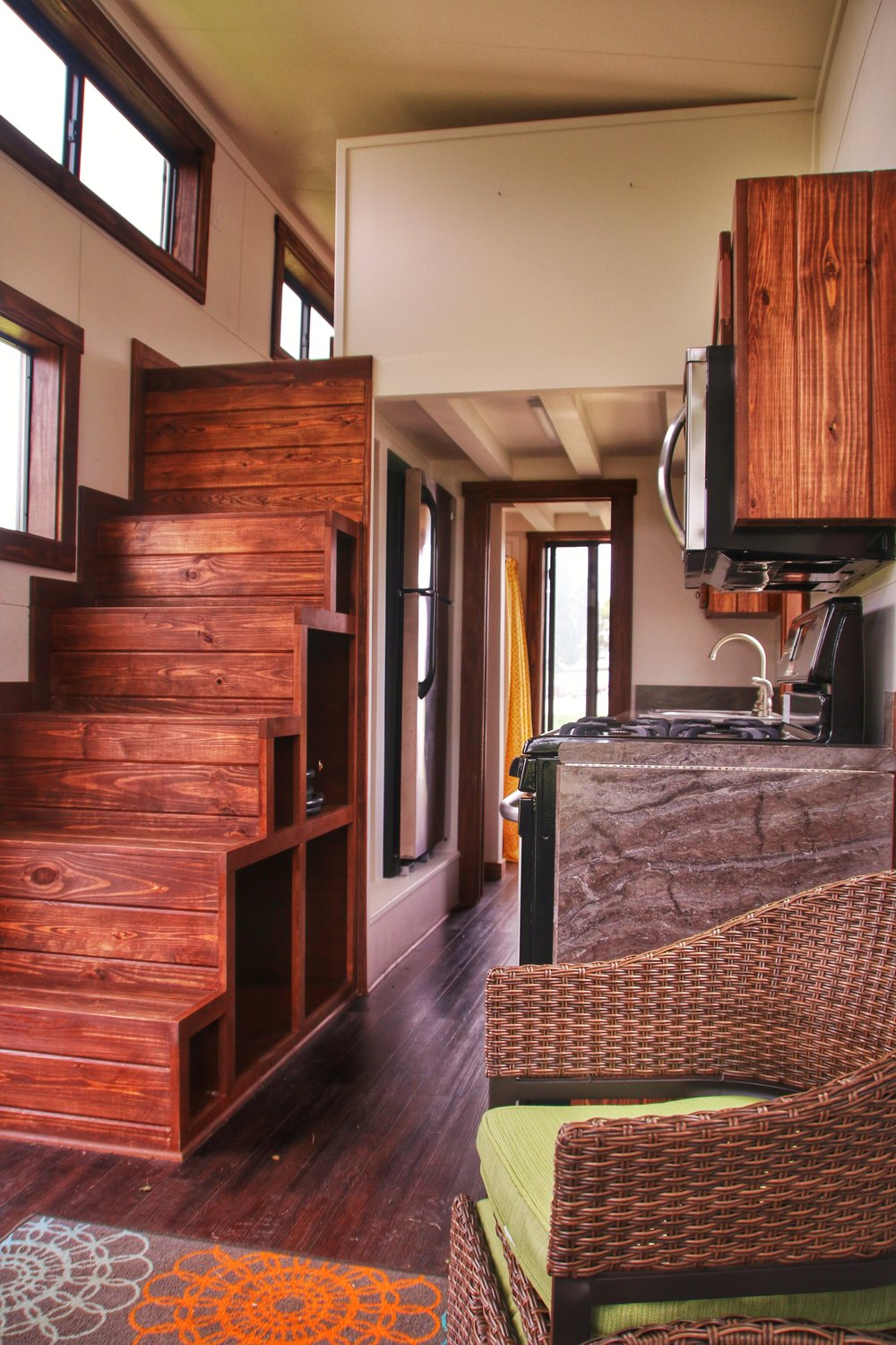 "Quality interior finishes are a key selling point for EcoCabins' ""Morrison"" home.  Photo Credit:  EcoCabins."