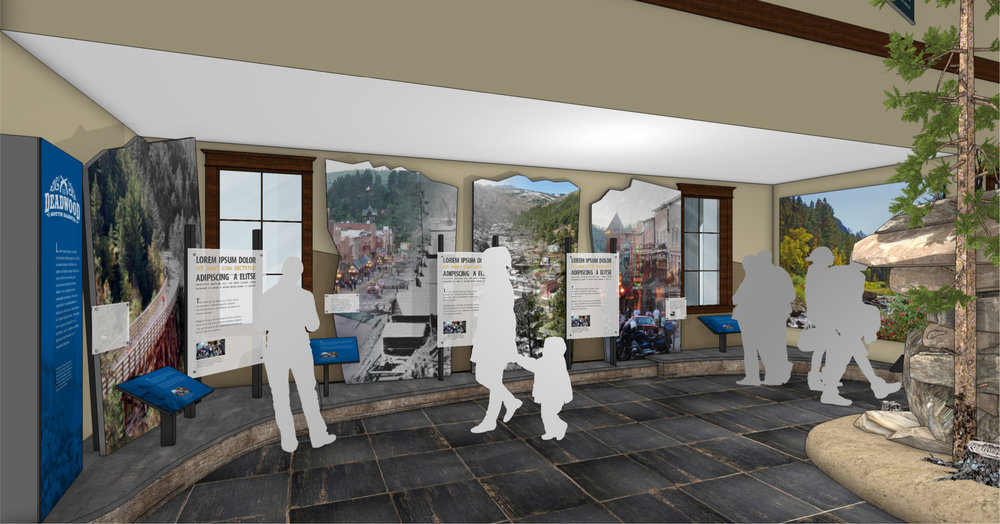 Interior Exhibit Concept – Courtesy of Chamberlin Architects and Split Rock Studios.