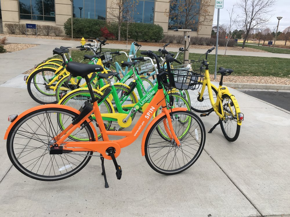 Aurora Bike Share Program. Photo by the City of Aurora Communications Department.