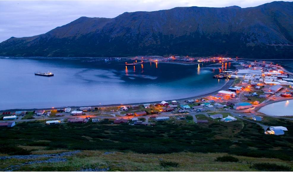 Downtown King Cove, Alaska. Photo provided by author.
