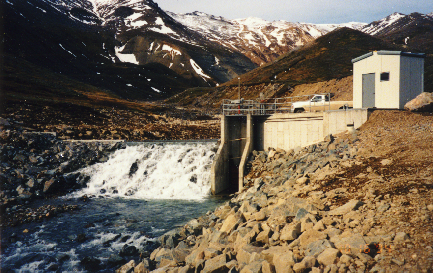 Delta Creek Hydroelectric Facility.  Its creation is covered in an 2015 WP article. Photo from Gary Hennigh's presentation to the 2017Arctic Energy Summit.
