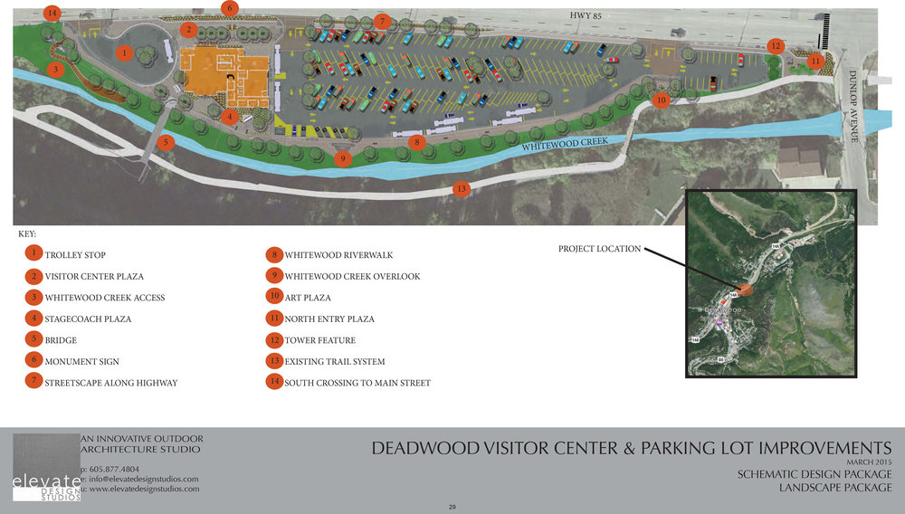 DEADWOOD VISITOR CENTER AND PARKING LOT IMPROVEMENTS.