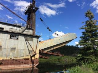 Dredge on Fairbanks Creek.